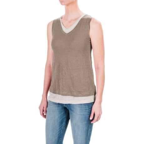 St. Tropez West Double-Layered Tank Top (For Women)