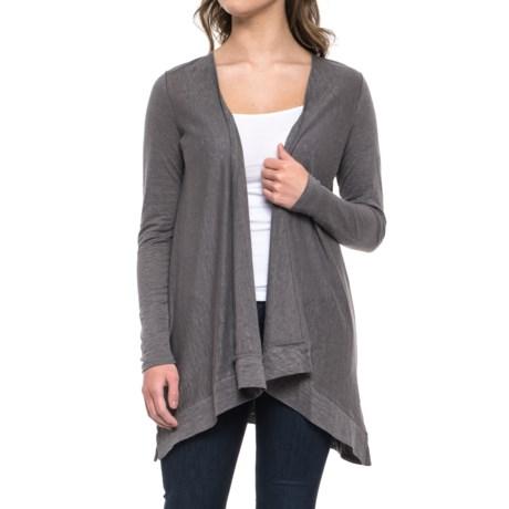 Artisan NY Heathered Linen Cardigan Shirt - Long Sleeve (For Women)