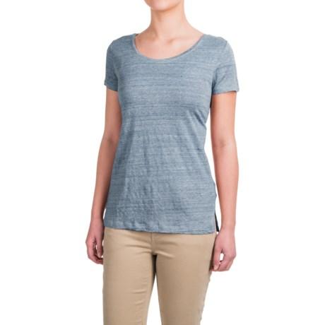 Kenar Linen Crossover-Back Shirt - Short Sleeve (For Women)