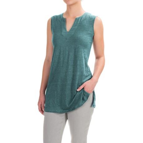 Artisan NY Linen High-Low Shirt - V-Neck, Sleeveless (For Women)
