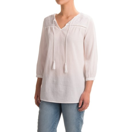 Artisan NY Gauze Peasant Top - 3/4 Sleeve (For Women)