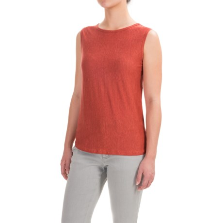 Kenar Linen Jersey Tank Top - Crew Neck (For Women)