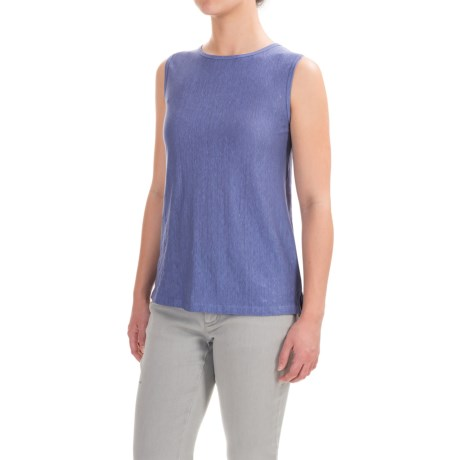 Willi Smith Linen Jersey Tank Top - Crew Neck (For Women)