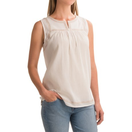 Artisan NY Flared Embroidered Shirt - Sleeveless (For Women)