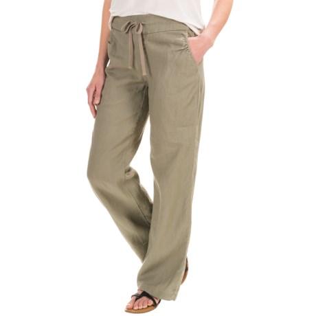 Antibes Blanc Linen Drawstring Pants (For Women)