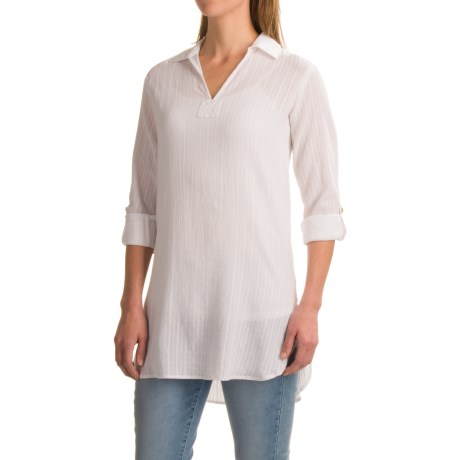 St. Tropez West Cotton Shirt - Long Sleeve (For Women)