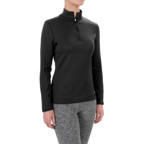 Hot Chillys M-Quilt Base Layer Top - Zip Neck, Long Sleeve (For Women)