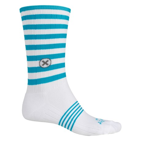 SockGuy Compression Fit Socks - Crew (For Men and Women)