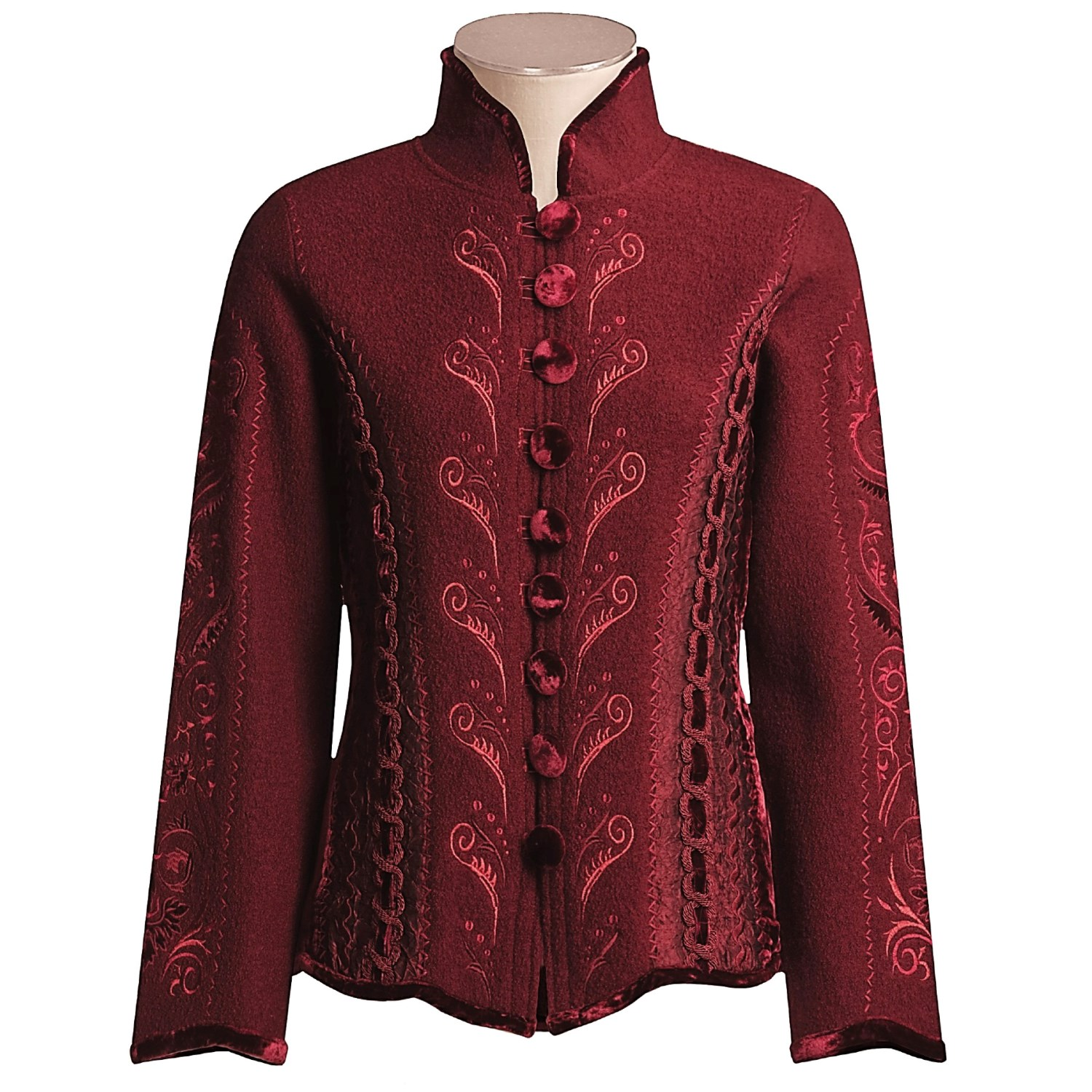 Covelo embroidered jacket for women w save