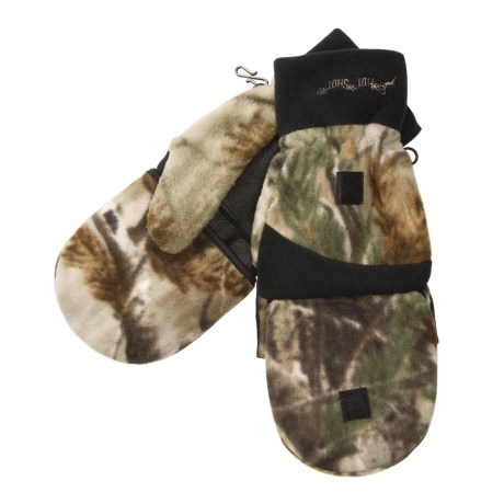 Jacob Ash Hot Shot Camo Fleece Mittens - Thinsulate® Flip-Top (For Men)