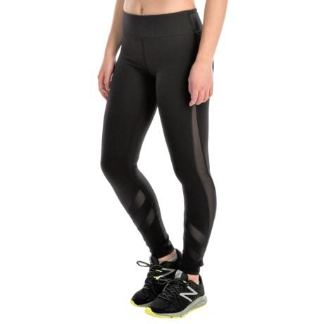 Kyodan Mesh Insert Running Tights - UPF 40+ (For Women)