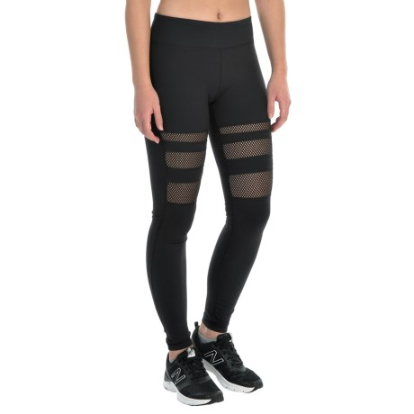 Kyodan Leg Stripe Running Tights - UPF 40+ (For Women)