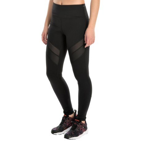Kyodan Chevron Mesh Running Tights - UPF 40+ (For Women)