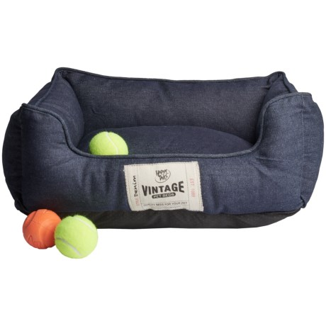 Happy Tails Vintage Cuddler Dog Bed - 24x20""