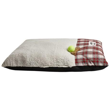 "Happy Tails Plaid Envelope Dog Bed - Large, 40x28"""