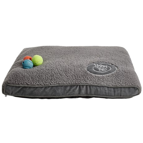 """Happy Tails Sherpa and Corduroy Dog Bed - Large, 36x27"""""""