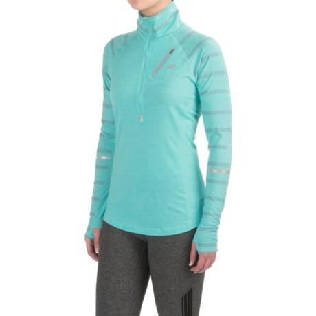 New Balance High-Performance Merino Wool Shirt - Zip Neck, Long Sleeve (For Women)