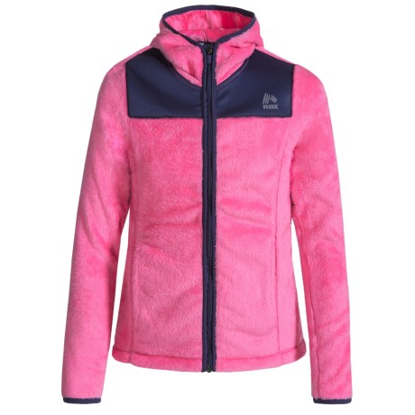 RBX Plush Zip-Front Jacket - Hooded (For Big Girls)