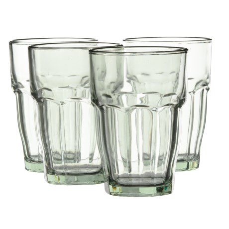 Bormioli Rocco Rock Bar Long Drink Glasses - 12 fl.oz., Set of 4
