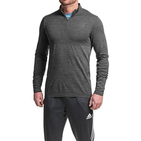 New Balance M4M Seamless Shirt - Zip Neck, Long Sleeve (For Men)