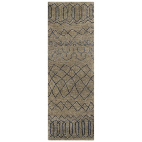 """Rizzy Home Highland Floor Runner - 2'6""""x8', Hand-Tufted Wool"""