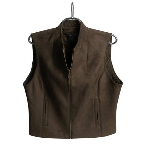 Kial Faux Suede Vest - Zip Front (For Women)