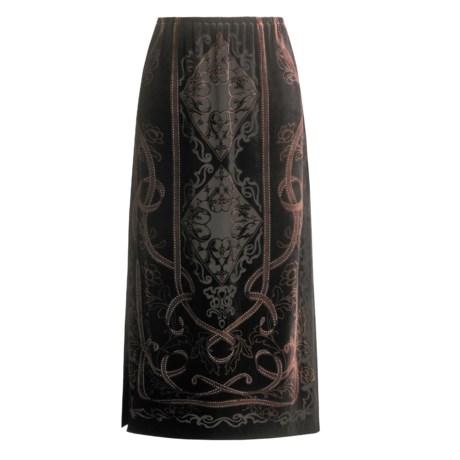 Kial Burn-Out Velvet Skirt (For Women)