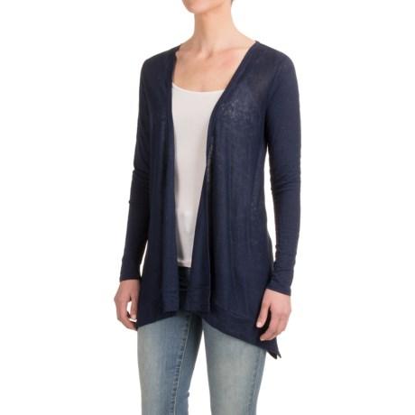 Artisan NY Sharkbite Cardigan Sweater - Linen, Open Front (For Women)