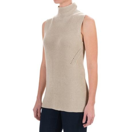 525 America Mock Neck Sweater - Sleeveless (For Women)