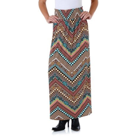 Wrangler Smocked-Waist Skirt - Stretch Rayon (For Women)