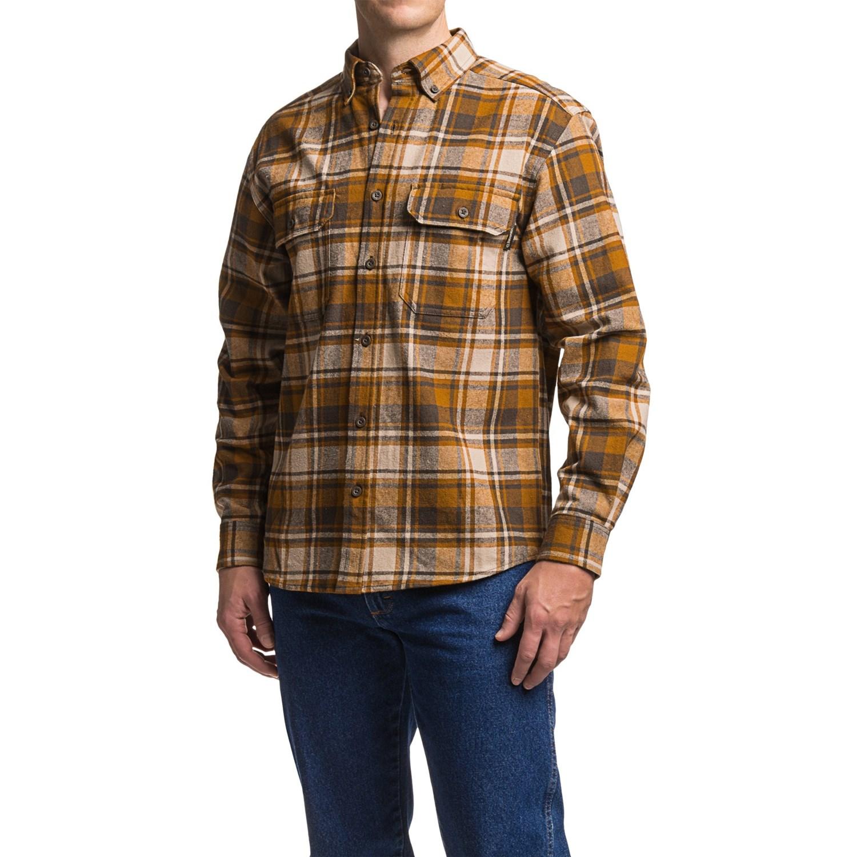 Wolverine Redwood Heavyweight Flannel Shirt For Men