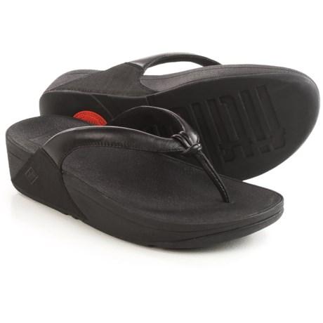 FitFlop Swirl T-Strap Flip-Flops - Leather (For Women)