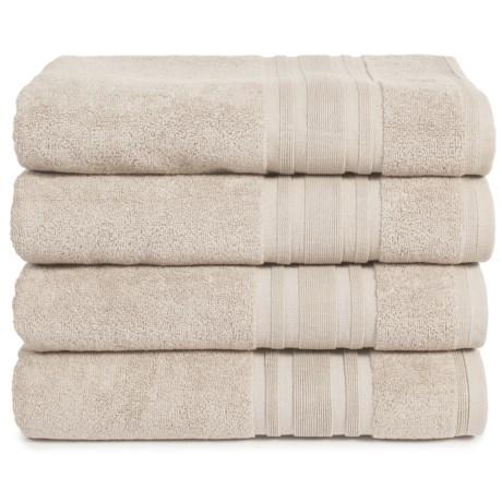 Melange Home Haute Monde Bath Towel Set - Turkish Cotton, 4-Piece