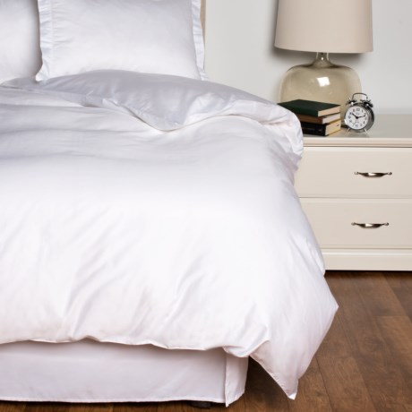 Melange Home Long-Staple Hemstitch Duvet Set - Full-Queen, 600 TC