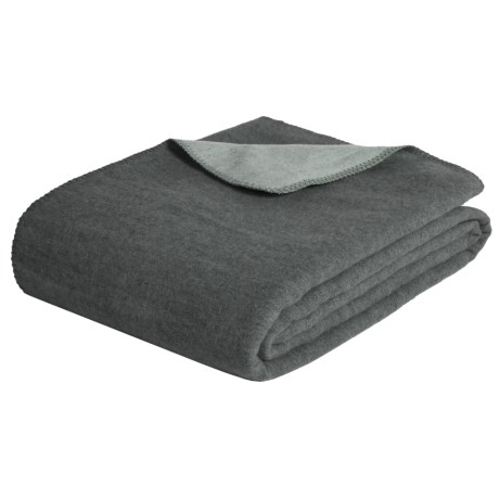 Melange Home Australian Merino Wool Blanket - Full-Queen, Reversible