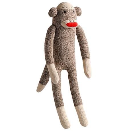 MultiPet Multipet Monkey Sock Squeaker Toy
