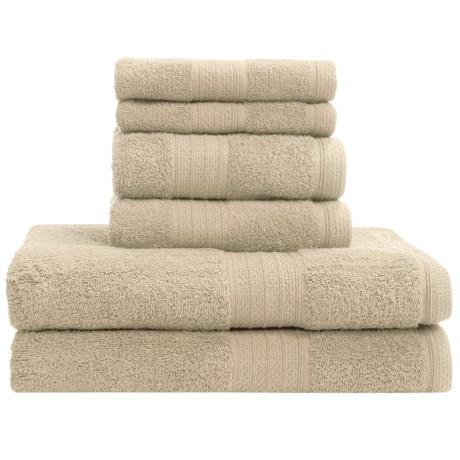 Divatex Home Fashions Deluxe Towel Set - Cotton, 6-Piece
