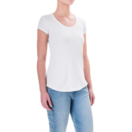 Cynthia Rowley Cotton-Modal T-Shirt - Scoop Neck, Short Sleeve (For Women)