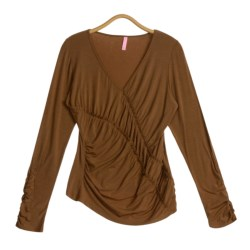 Sno Skins Microfiber Ruched Shirt - Modal, Long Sleeve (For Women)
