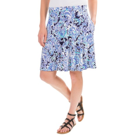 Cynthia Rowley Printed Stretch-Knit Skirt (For Women)