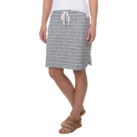 Kenji Fench Terry Striped Skirt (For Women)