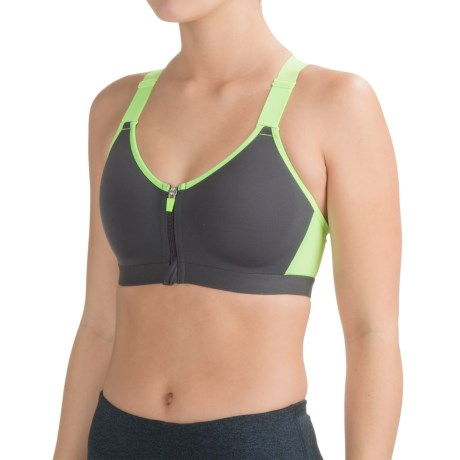 RBX Zip-Front Sports Bra - High Impact, Racerback (For Women)