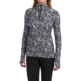 Eddie Bauer Paisley Shirt - Zip Neck, Long Sleeve (For Women)