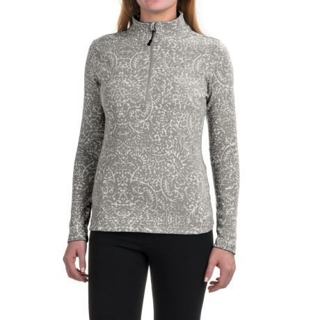 Eddie Bauer Knit Ruched Shirt - Zip Neck, Long Sleeve (For Women)