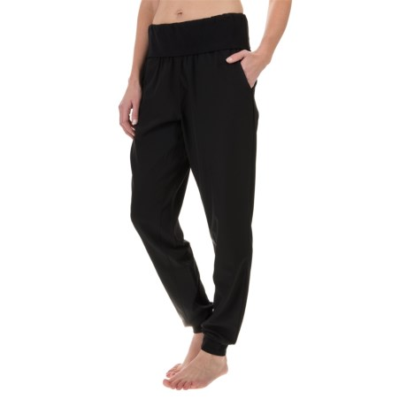 Nicole Miller Fold-Over Waist Joggers (For Women)