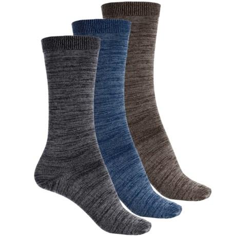 Wrangler Marl Flat Knit Socks - 3-Pack, Mid Calf (For Women)