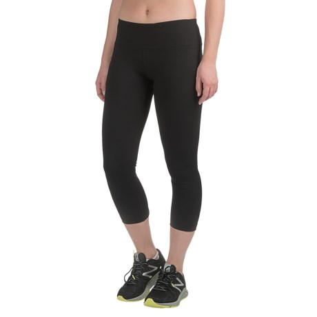 Yogalicious Criss-Cross Cutout Capris (For Women)
