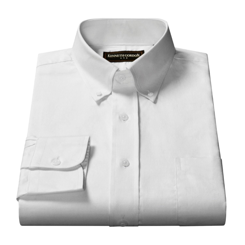 kenneth gordon oxford cloth dress shirt for men 18568