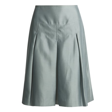 Magaschoni Collection Gazar Silk Skirt - Pleated (For Women)