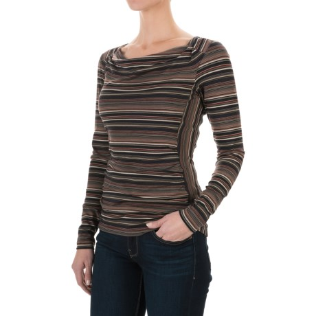 Royal Robbins Essential TENCEL® Striped Cowl Neck Shirt - UPF 50+, Long Sleeve (For Women)